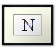 Nu Greek Letter  Framed Print