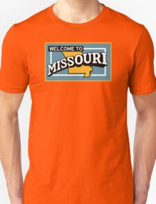Welcome to Missouri, Vintage Road Sign 50s  T-Shirt