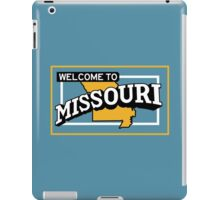 Welcome to Missouri, Vintage Road Sign 50s  iPad Case/Skin