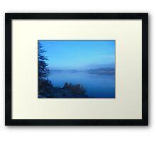 Stillness of a Freezing Dawn Framed Print