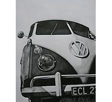 Split Screen VW Camper Photographic Print