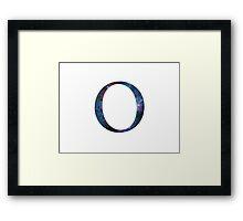 Omicron Greek Letter Framed Print
