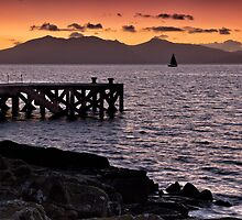 Portencross Sunset and Jetty by Paul Messenger