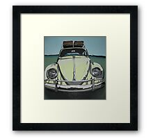 Green VW Beetle Framed Print