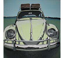 Green VW Beetle Photographic Print
