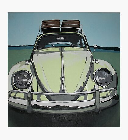 Green VW Beetle Photographic Print