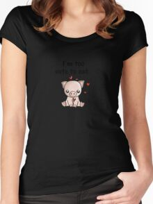 I'm too cute to eat Women's Fitted Scoop T-Shirt
