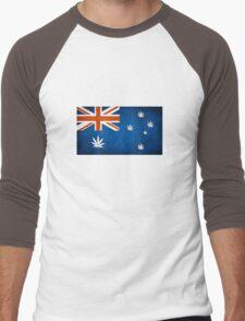 Australian Cannabis Leaf Flag Men's Baseball ¾ T-Shirt