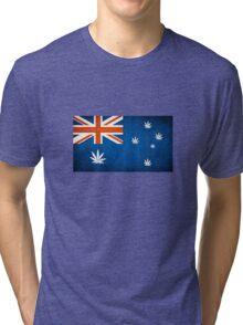 Australian Cannabis Leaf Flag Tri-blend T-Shirt