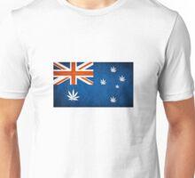 Australian Cannabis Leaf Flag Unisex T-Shirt