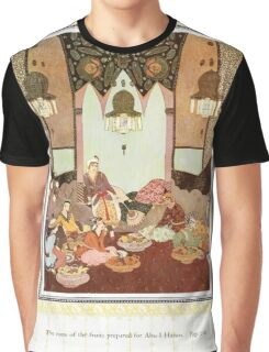 Sinbad the Sailor and other Tales of the Arabian Nights - 1914 - Edmund Dulac - 0236 - The Room of the Fruits Perpared for Abu l Hasan Graphic T-Shirt