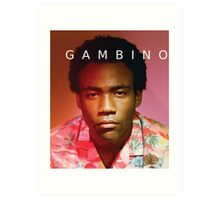 Childish Gambino Because The Internet Art Print