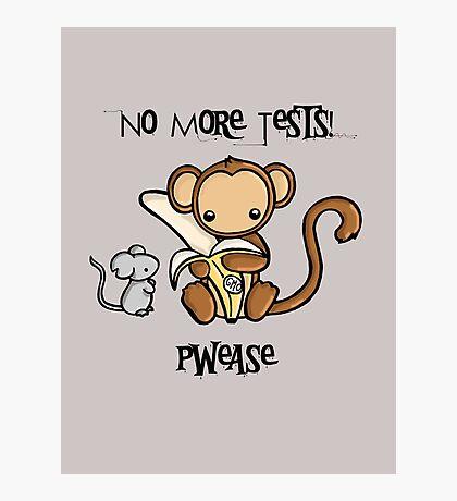 No More Animal Testing Photographic Print