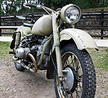 Vintage Military Motorcycle by Tom Conway