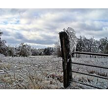 Icy Gate Photographic Print