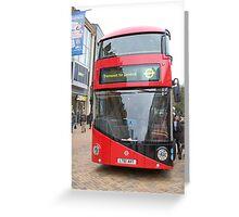 New London bus Prototype Greeting Card