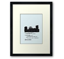 Your Mother was a hamster Framed Print