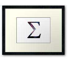Sigma Greek Letter Framed Print