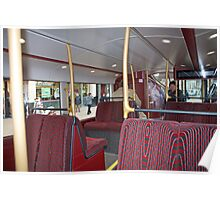 Downstairs inside the new London Prototype Bus Poster