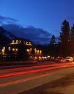Light Trails of Banff by Ryan Davison Crisp
