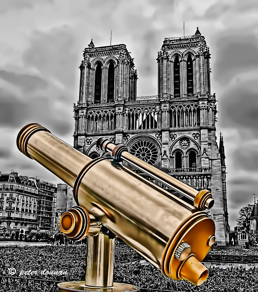 Notre Dame Cathedral Paris by peter donnan