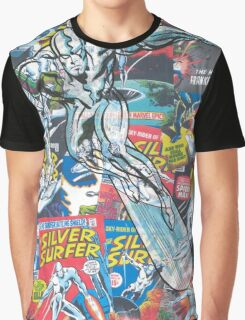 Vintage Comic Silver Surfer Graphic T-Shirt