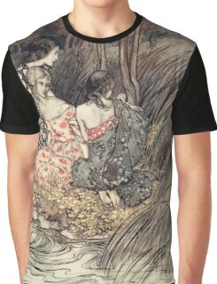 Comus Illustrated by Arthur Rackham 1921 0087 Maidens at Water's Edge Graphic T-Shirt