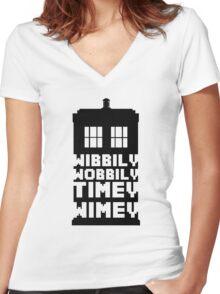 Wibbily Wobbily Timey Wimey Women's Fitted V-Neck T-Shirt
