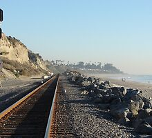 Riding the Rails along San Clemente, California by Joni  Rae