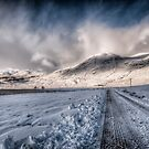 Snowy Road to Loch Mullardoch by Fraser Ross