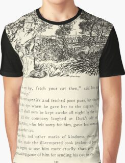 English Fairy Tales by Flora Annie Webster Steel art Arthur Rackham 1922 0306 Dick Finds no Gold Paved London Streets Graphic T-Shirt