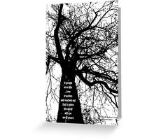 Trees peace Greeting Card