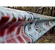 graffiti guide rail Photographic Print