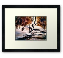 Winter's Innocence... Framed Print