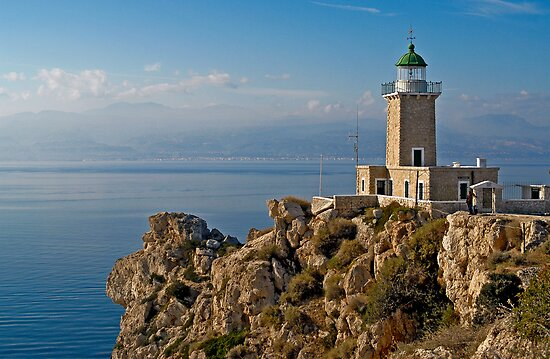 The lighthouse by Konstantinos Arvanitopoulos