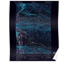 USGS Topo Map Washington State WA Yakima East 244815 1953 62500 Inverted Poster