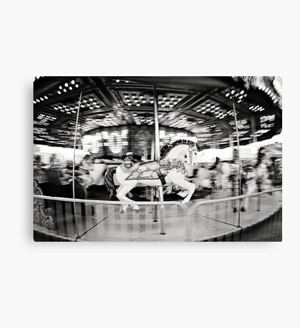round and round. Canvas Print
