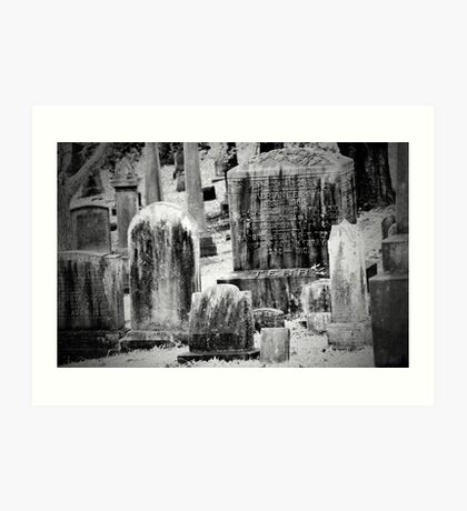 Old Gray Cemetery-1880 Art Print