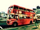 Routemaster, pop art vintage by Jasna