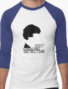 World's Only Consulting Detective V2 (for light coloured tops) Men's Baseball ¾ T-Shirt