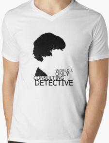 World's Only Consulting Detective V2 (for light coloured tops) Mens V-Neck T-Shirt