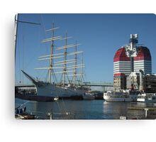 The Lipstick, Gothenburg Harbour Canvas Print