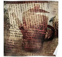 Coffee pot collage Poster