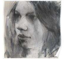 a face in charcoal Poster