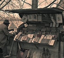 paris bookseller by wendys-designs