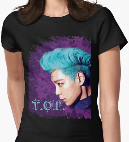 T.O.P ~ Big Bang Womens Fitted T-Shirt