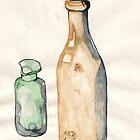 Painting - Old Bottles by KarenJI1962