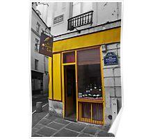 A Paris Wine Shop Poster