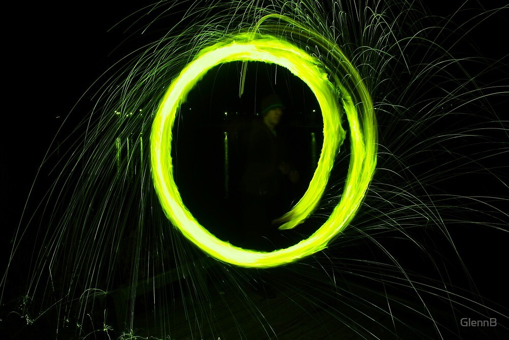 Electric Green Circle by GlennB