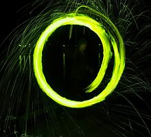 Electric Green Circle by GlennB